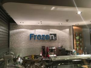 Identyfikacja wizualna znaki graficzne 3d frozen2