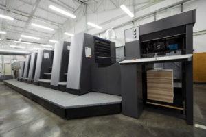 wnętrze drukarni wielkoformatowej